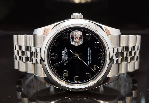 ROLEX 2009 Datejust 36, Steel, 116200, Box & Papers