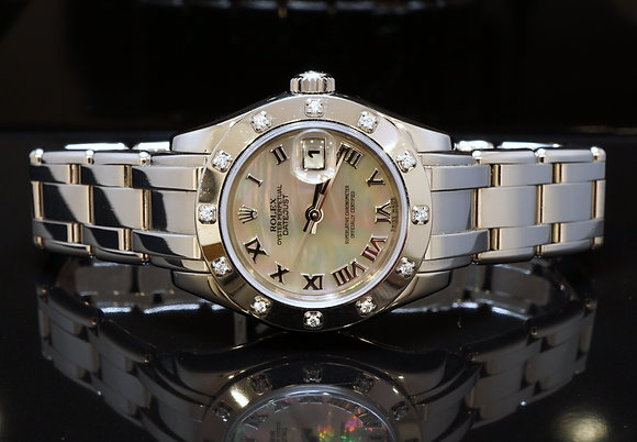 ROLEX 2005 18ct White gold 29mm Pearlmaster, MOP, 80319, MINT, B&P