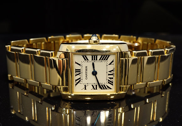 CARTIER 2005 Lds Tank Francaise, 18ct Yellow Gold, W50002N2, Box & Papers
