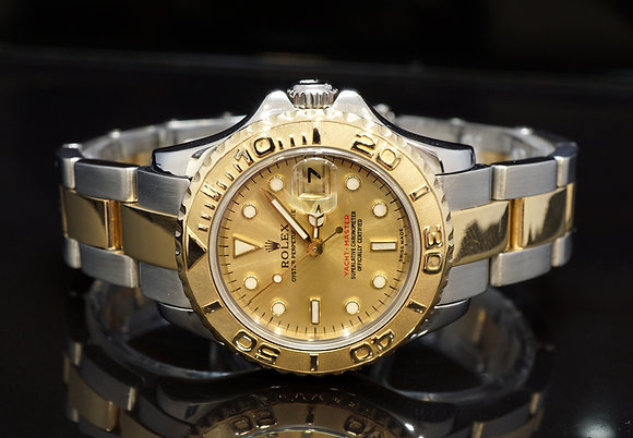 ROLEX 2000 Yacht-Master 29, 169623, Steel & Gold, Champagne Dial