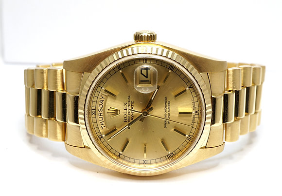 ROLEX 1983 Day-Date 36, 18038, 18ct Yellow Gold, President, Boxed