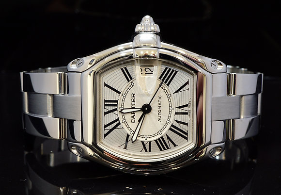 CARTIER 2009 Roadster Auto, W62025V3, MINT, Box & Papers