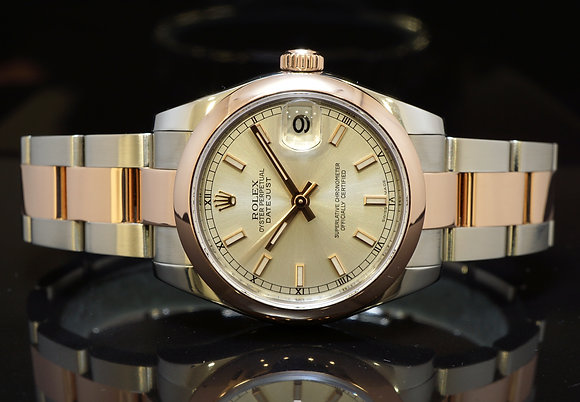 ROLEX 2015 31mm Datejust, Steel & Rose Gold, 178241, MINT, Box & Papers