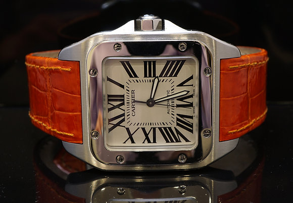 CARTIER Santos 100XL, Steel, MINT, W20073X8, Boxed