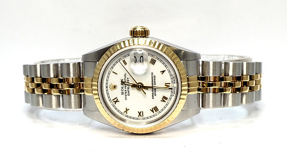 ROLEX 1987 Datejust 26, 69173, Steel & Gold, Serviced March 2021, Box & Papers