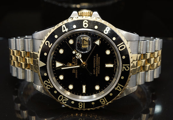 ROLEX 1998 GMT Master II, Steel & Gold, 16713, Box & Papers