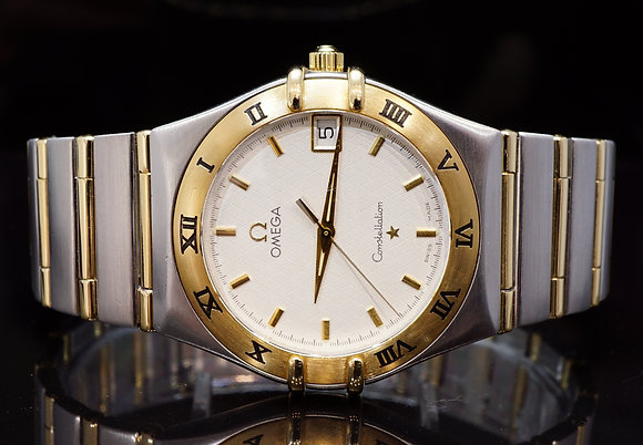 OMEGA 2003 Constellation, Steel & Gold, 12123000, MINT, Papers