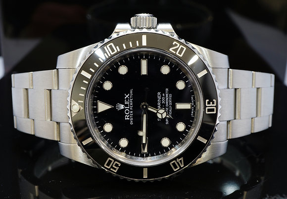 ROLEX 2013 40mm Submariner Non Date, 114060, MINT, Box & Papers