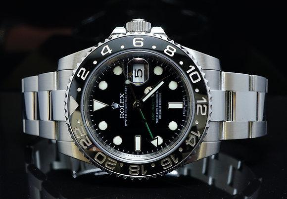 ROLEX 2009 GMT Master 2, Steel, 116710LN, MINT, Boxed