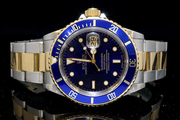 ROLEX Steel & Gold Submariner, 1996,  Box & Papers
