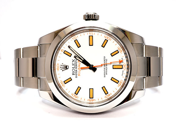 ROLEX 2017 Milgauss, 116400, White Dial, Box & Papers