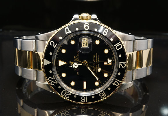 ROLEX 1987 GMT Master, Steel & Gold, 16753, Plexi Glass, Boxed