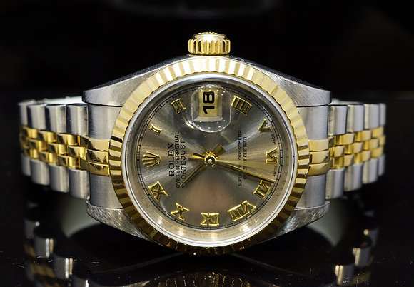 ROLEX 1999 26mm Datejust, Steel & Gold, Box & Papers
