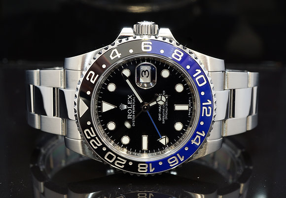 "ROLEX 2015 GMT Master II ""Batman"", 116710BLNR, MINT, Box & Papers"