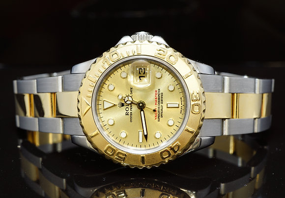 ROLEX 2002 29mm Yacht-Master, Steel & Gold, 169623, MINT, Box & Papers