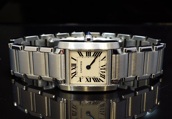 CARTIER 2016 Lds Tank Francaise, Steel, Quartz, W51008Q3, MINT, Box & Papers