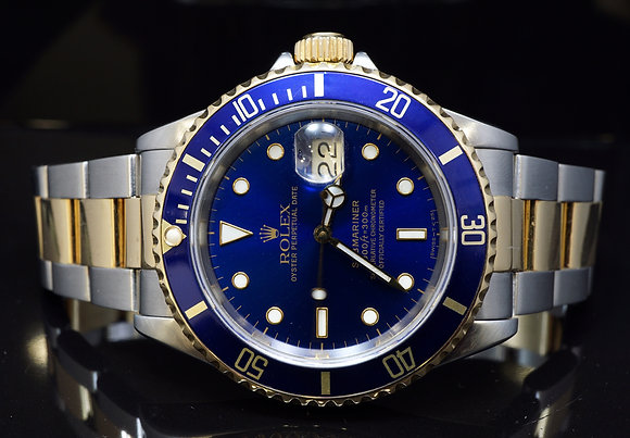 ROLEX 1992 Bi Colour Submariner, 16613, Box & Papers