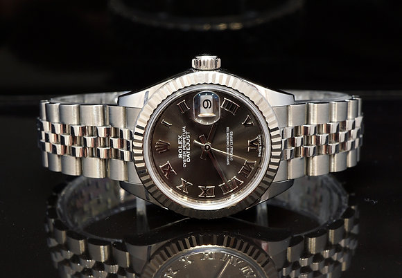 ROLEX 2018 Datejust 28, 279174, White Gold Bezel, Box & Papers