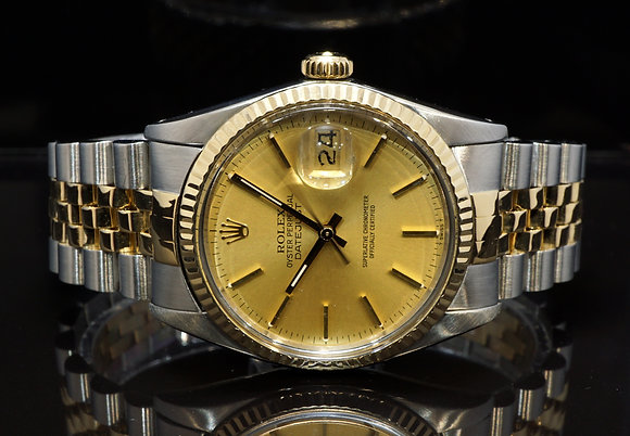 ROLEX 1980 Datejust 36, Steel & Gold, 16013,  Excellent Condition
