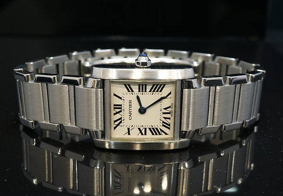 CARTIER 2002 Tank Francaise, Steel, 2384, Quartz, with Papers