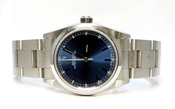 ROLEX 2003 Oyster Perpetual 31, 77080, Blue Dial, Box & Papers