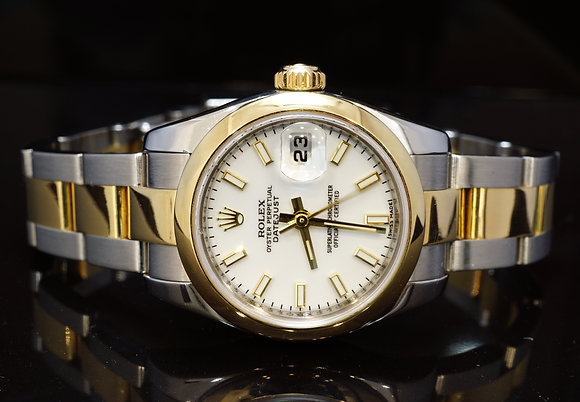 ROLEX 2009 26mm Datejust, Steel & Gold, 179163. Box & Papers