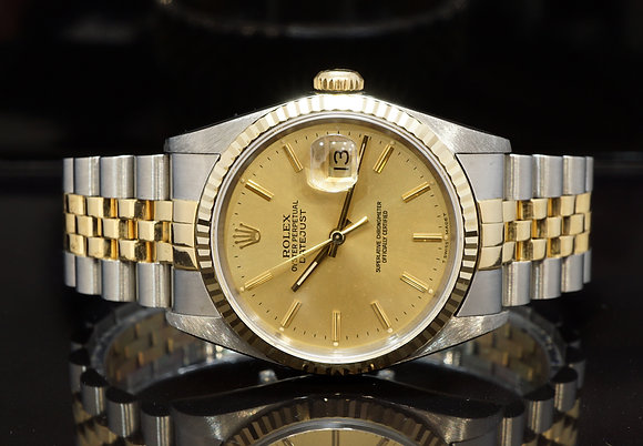 ROLEX 1993 Datejust 36, 16233, Steel & Gold, Jubilee, Box & Papers