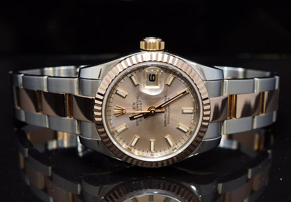 ROLEX 2008 26mm Datejust, Steel & Rose Gold, 179171, MINT, Box & Papers