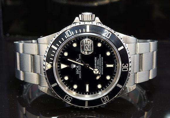 ROLEX 1991 Submariner Date, 16610, Tritium Dial, Boxed