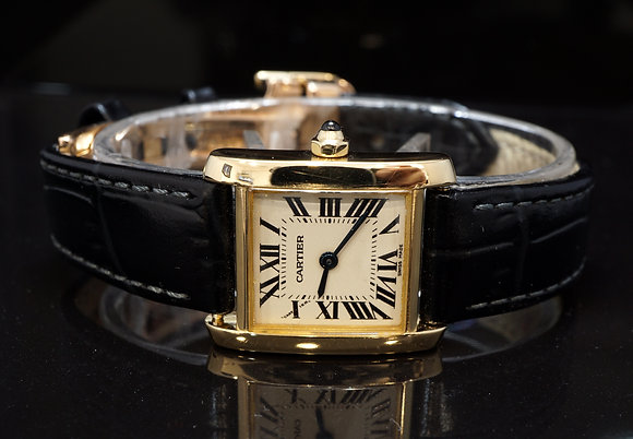 CARTIER Lds Tank Francaise, 18ct yellow Gold, 2385, Quartz