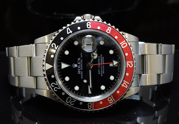 ROLEX 2005 GMT Master 2, 16710LN, MINT, Box & Papers