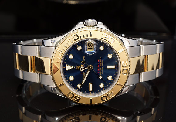 ROLEX 1999 Yacht-Master 35, Steel & Gold, 68623, Blue, Box & Papers