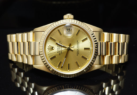 ROLEX 1985 31mm 18ct Yellow Gold Datejust, 68278, MINT, Boxed