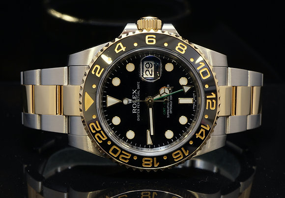ROLEX GMT 2, 2008, Steel & Gold, MINT, Box & Papers