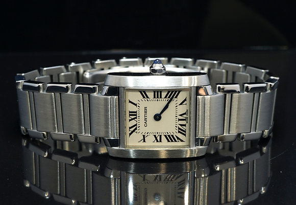 CARTIER 2000 Tank Francaise, Steel, W51008Q3, Stainless Steel