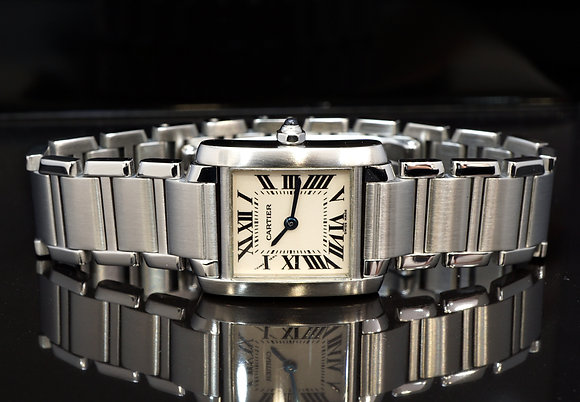 CARTIER 2000 Tank Francaise, 2384, Steel with Papers