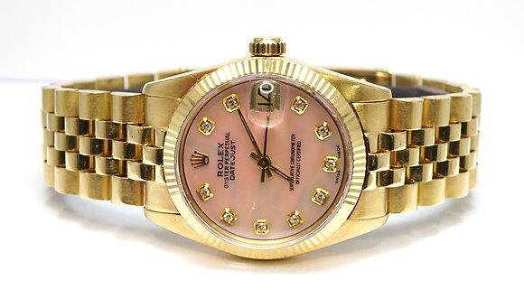 ROLEX 1979 Datejust 31, 6827, Mother of Pearl Diamond Dial, Boxed