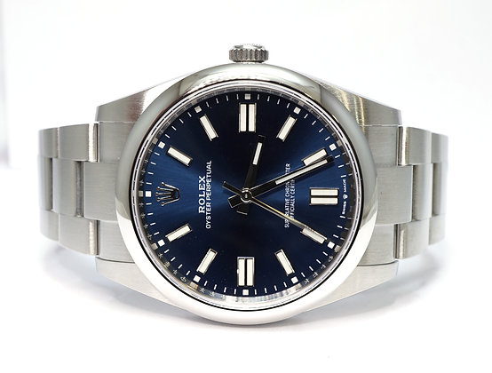 ROLEX 2020 Oyster Perpetual 41, 124300, UNWORN, Blue Baton, Box & Papers