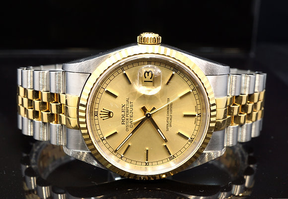 ROLEX 2000 Datejust 36, Steel & Gold, 16233, Box & Papers
