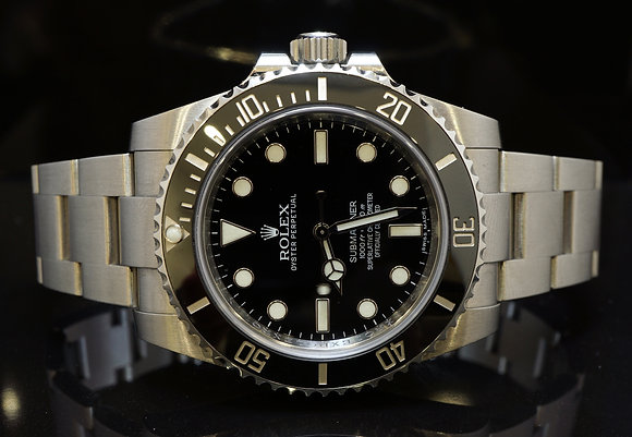ROLEX 2015 Submariner Non Date, 114060, MINT, Box & Papers