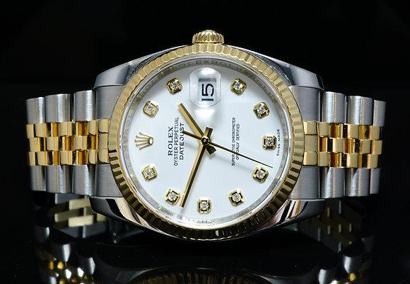 ROLEX 2011 36mm Steel & Gold Datejust, 116233, MINT, Box & Papers