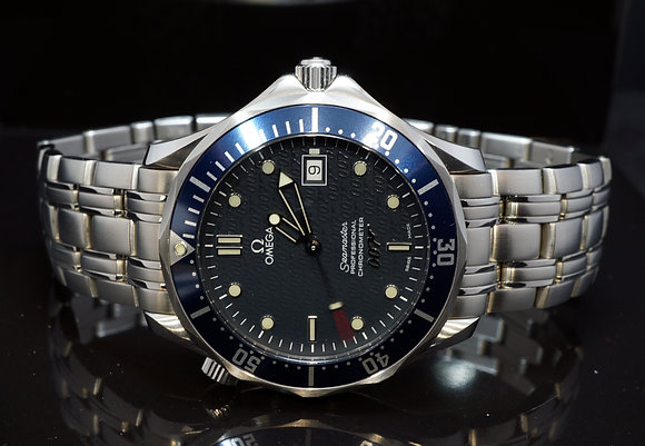 OMEGA 2002 Seamster 41mm, James Bond 007 Ltd Edition, 25378000, Box & Papers