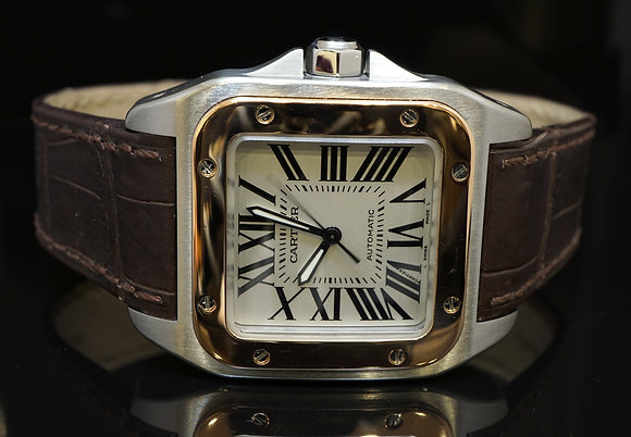 CARTIER 2006 Santos 100, Steel & Rose Gold, W20107X7