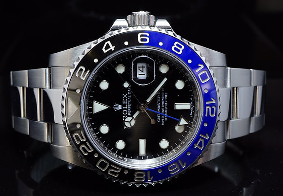 "ROLEX 2015, GMT Master II, ""BATMAN"", 116710BLNR, MINT, Box & Papers"