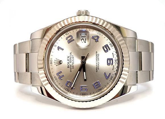 ROLEX 2012 Datejust II, 116334, Silver Arabic, Box & Papers