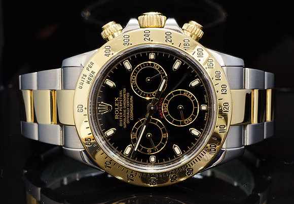 ROLEX 2015 Daytona, Steel & Gold, 116523, Warranty Till 07/20, Box & Papers