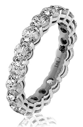 18ct White Gold Diamond Full Eternity Ring 3.50ct
