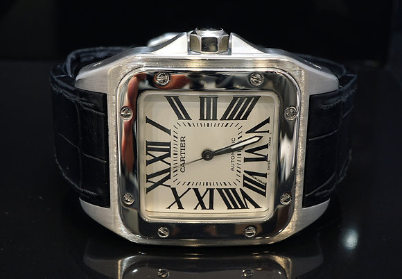 CARTIER 2010 Santos 100XL, Steel, W20073X8, MINT, Box & Papers