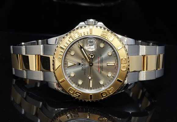 ROLEX 2002 35mm Yacht-Master, Steel & Gold, 168623, MINT, Box & Papers