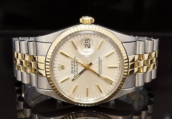 ROLEX 1979 Datejust 36, Steel & Gold, 16013, Box & Papers